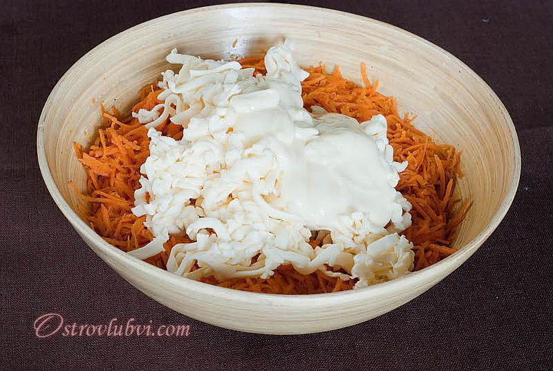 Салат из моркови с сыром 7