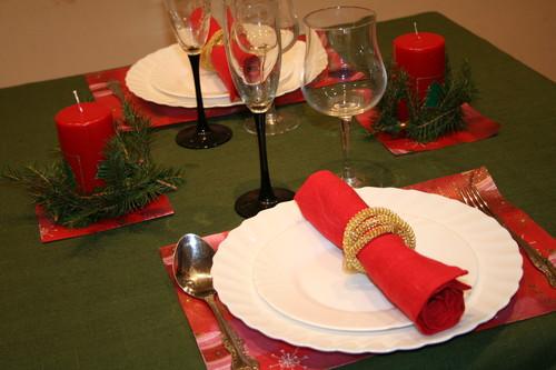 Новогодний романтический стол