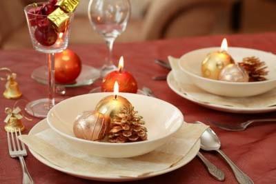 Романтический новогодний стол