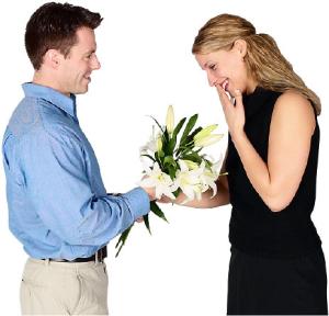 Мужчина получит комплимент за цветы