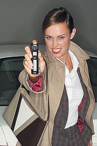 Женщина с газовым баллончиком