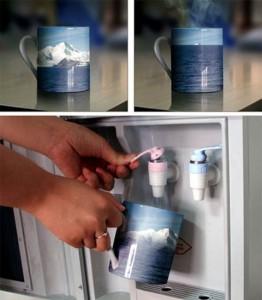 Чашка, напоминающая о глобальном потеплении