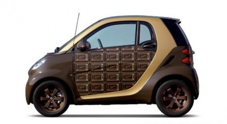 Шоколадный автомобиль Smart ForTwo на День святого Валентина