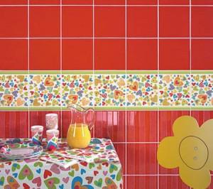 Разноцветная мебель для модной кухни