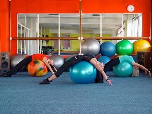 Занятия с гимнастическим мячом
