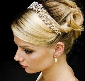 Свадебные украшения: повязка на волосы (фото 2)