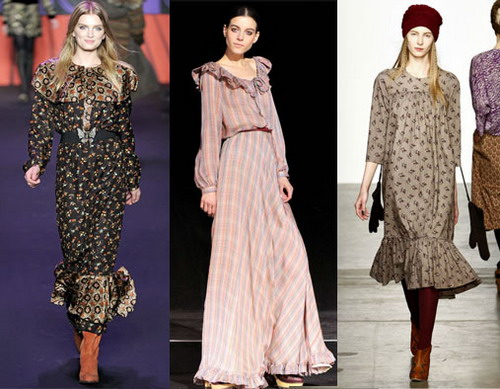 Платья осень–зима 2011