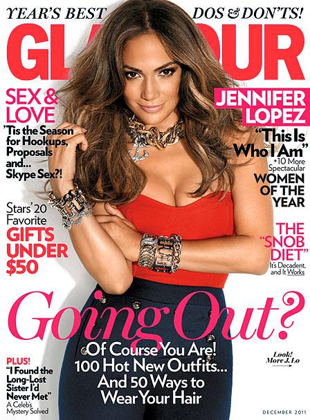 Дженифер Лопес на обложке Glamour US декабрь 2011 (фото 1)
