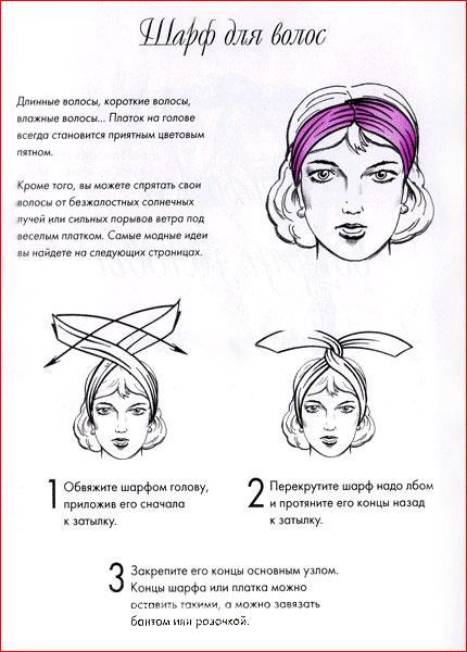 Как завязать платок на голову - 5