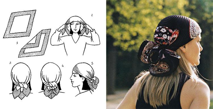 Как завязать платок на голову - 1