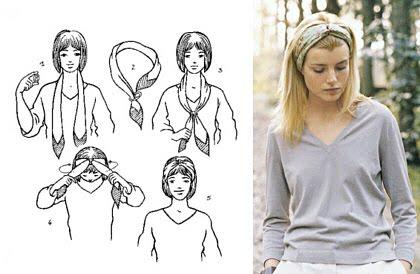 Как завязать платок на голову - 2