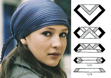 Как завязать платок на голову - 3