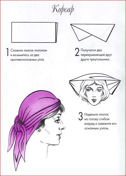 Как завязать платок на голову - 13