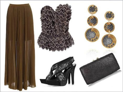Новогодние аксессуары, украшения и обувь 2012