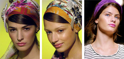 Способы завязывания платка на голову