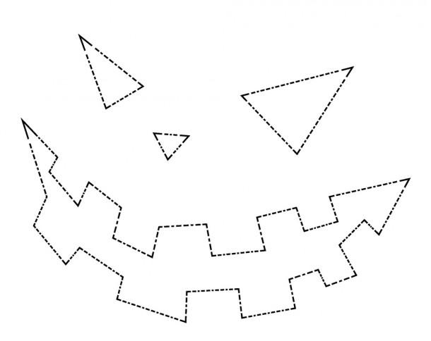 Шаблоны для тыквы на Хэллоуин - 25