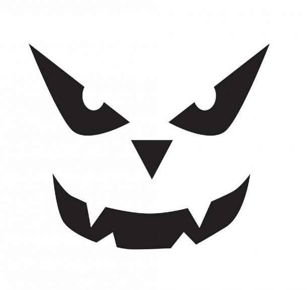 Шаблоны для тыквы на Хэллоуин - 9