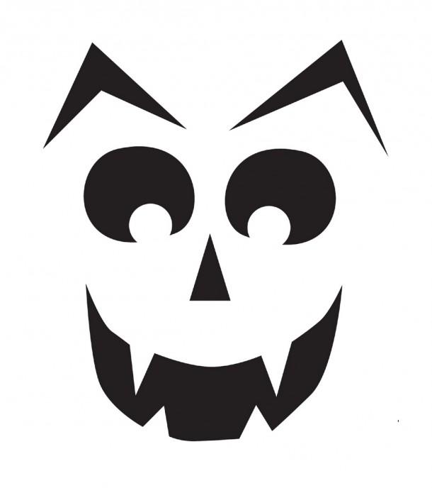 Шаблоны для тыквы на Хэллоуин - 8