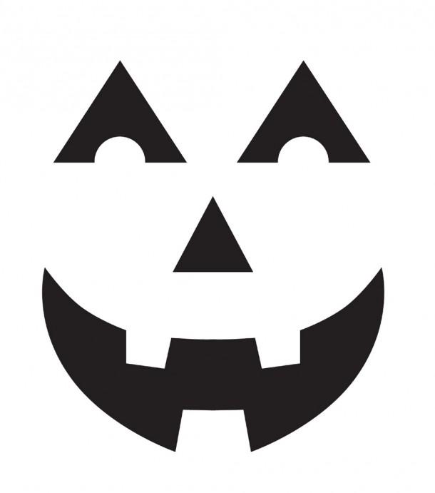 Шаблоны для тыквы на Хэллоуин - 6