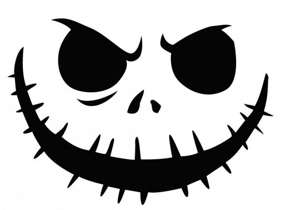 Шаблоны для тыквы на Хэллоуин - 5