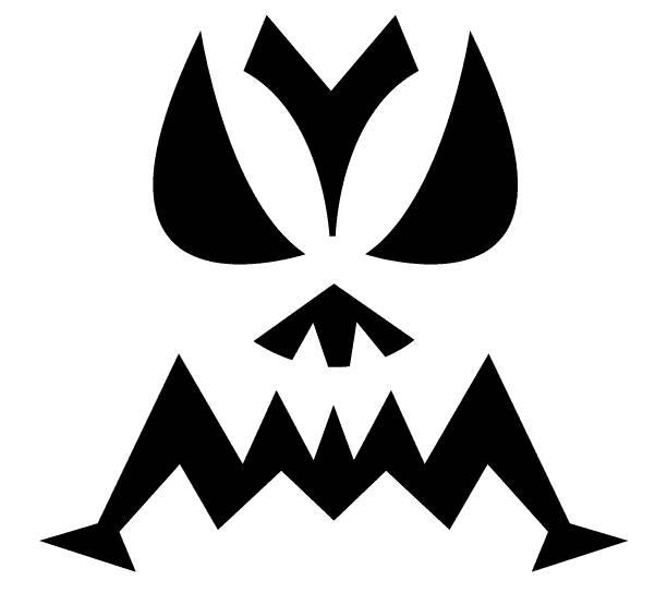 Шаблоны для тыквы на Хэллоуин - 2