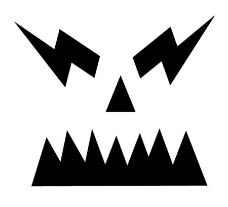 Шаблоны для тыквы на Хэллоуин - 4
