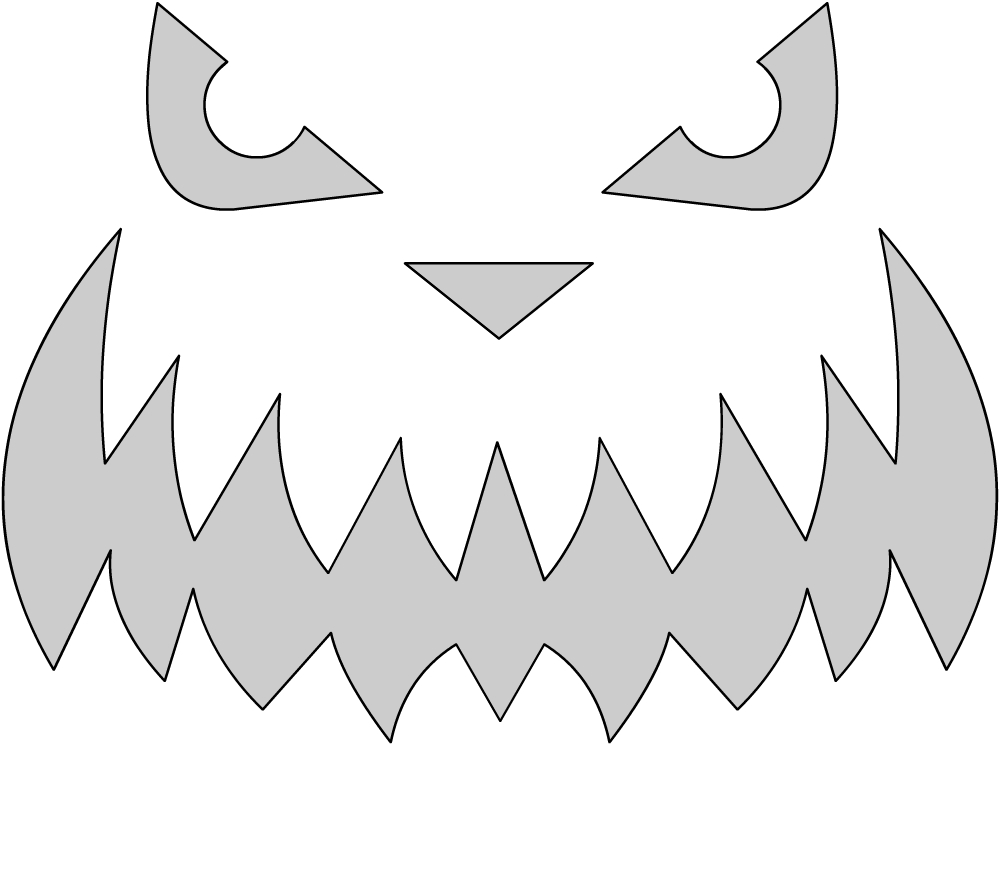 Шаблоны для тыквы на Хэллоуин - 26