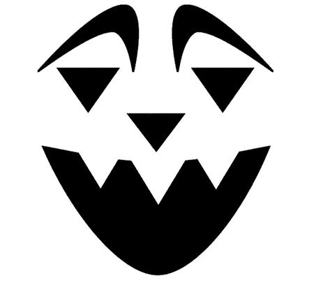 Шаблоны для тыквы на Хэллоуин - 13