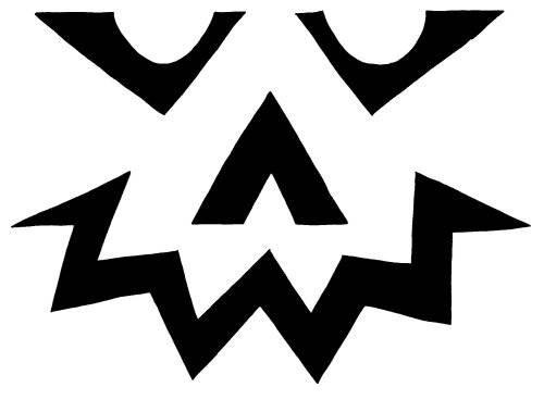 Шаблоны для тыквы на Хэллоуин - 17