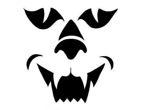 Шаблоны для тыквы на Хэллоуин - 20