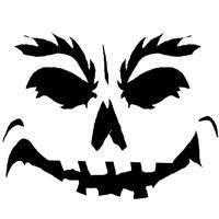 Шаблоны для тыквы на Хэллоуин - 23