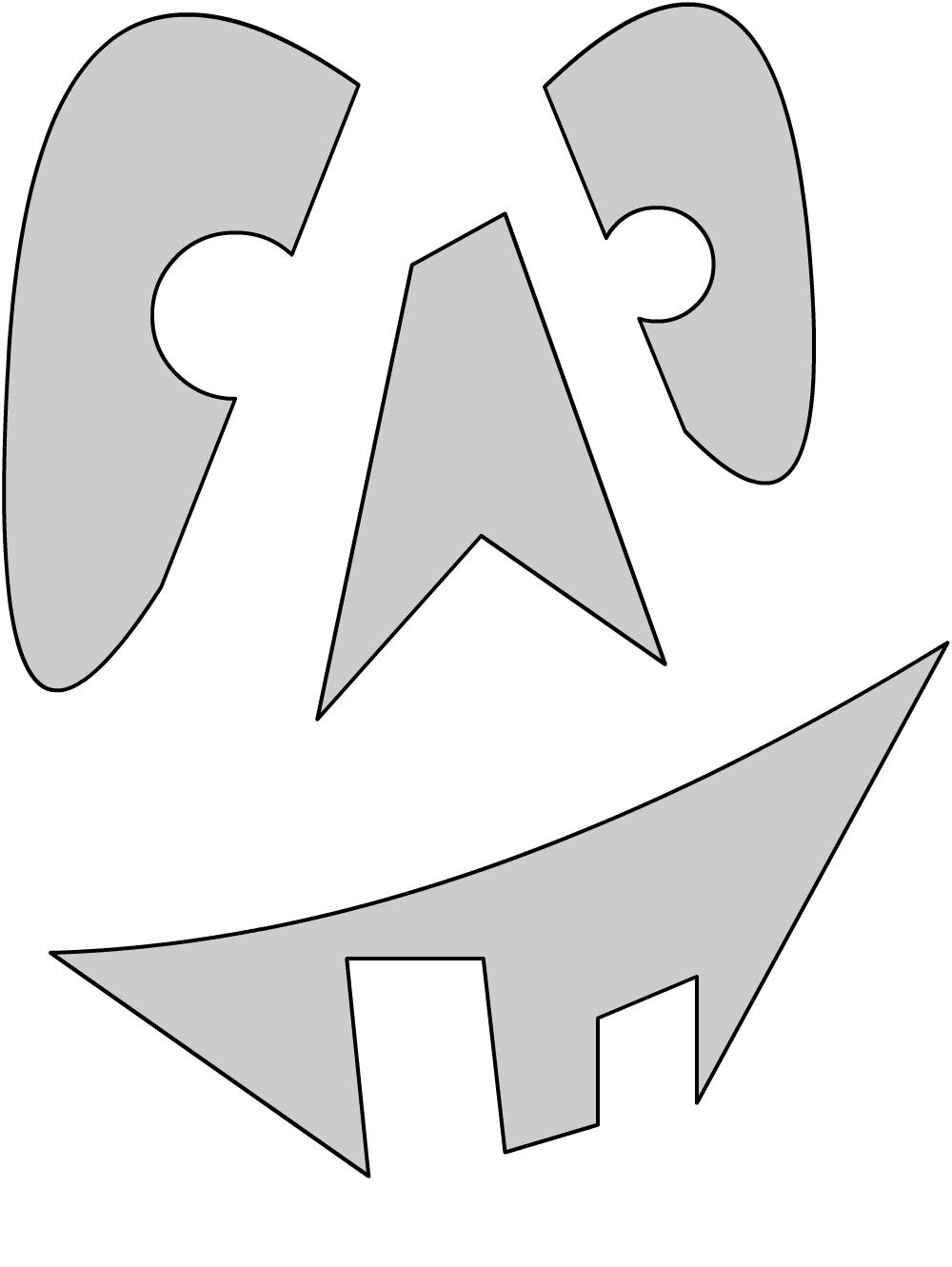 Шаблоны для тыквы на Хэллоуин - 27