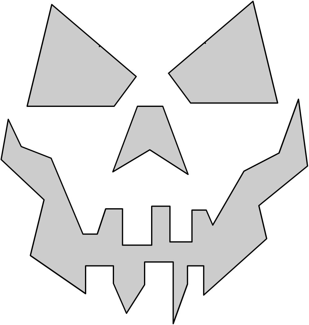 Шаблоны для тыквы на Хэллоуин - 28