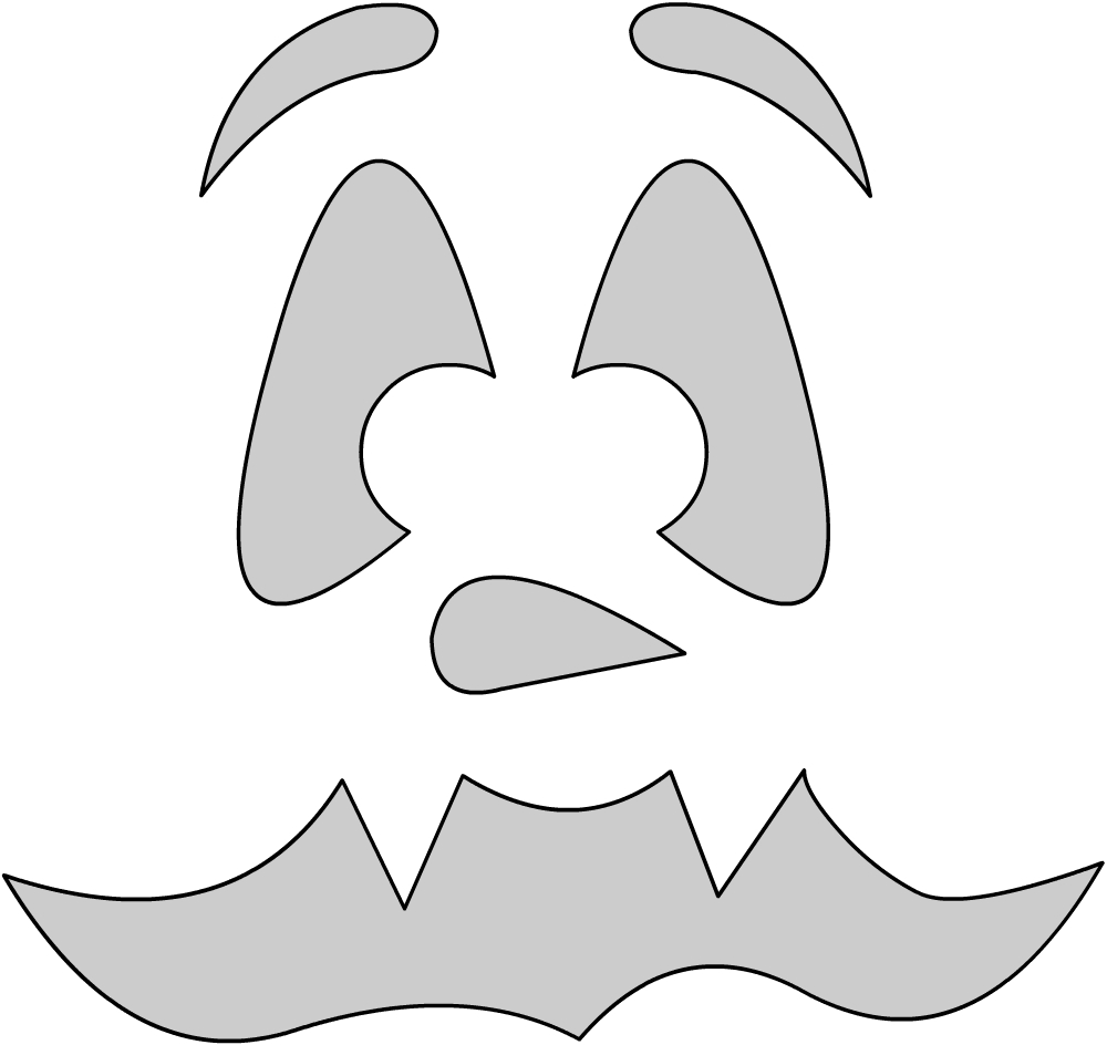 Шаблоны для тыквы на Хэллоуин - 29