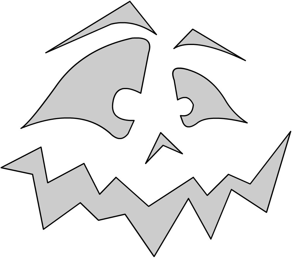 Шаблоны для тыквы на Хэллоуин - 30