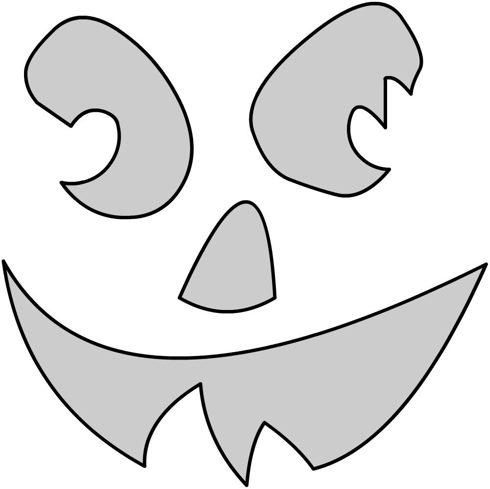 Шаблоны для тыквы на Хэллоуин - 31