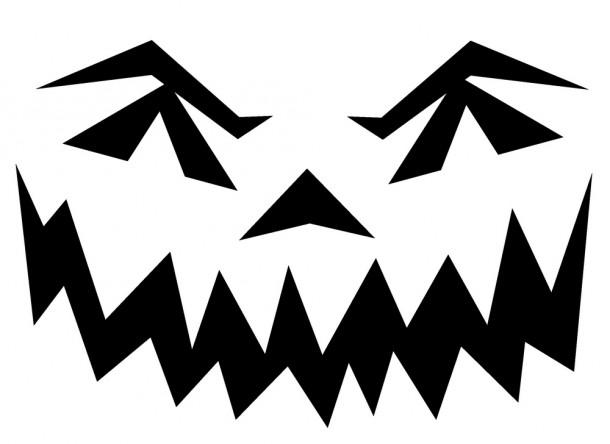 Шаблоны для тыквы на Хэллоуин - 12