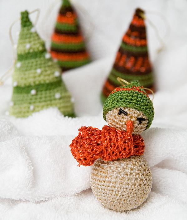 Новогоднее украшение - снеговик