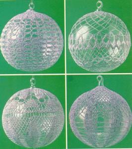 Новогодние шарики вязании крючком