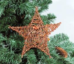 Плетеные украшения на елку