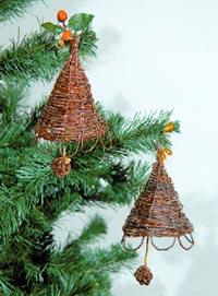 Плетеные украшения на новогоднюю елку
