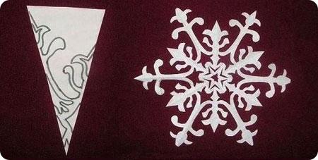 Схемы вырезания снежинок 3