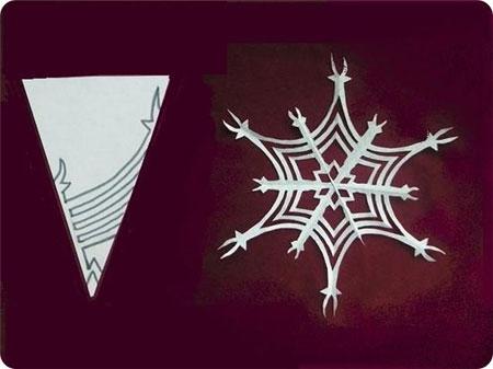 Схемы вырезания снежинок 6
