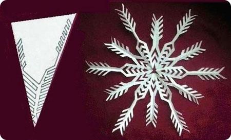Схемы вырезания снежинок 8
