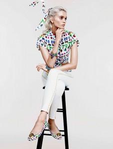 Эбби Ли Кершоу в коллекции Cruise 2012 от Versace и H&M (фото 2)