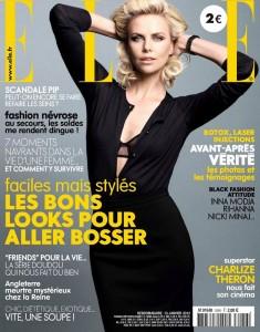 Шарлиз Терон на обложке Elle France январь 2012 (фото 1)