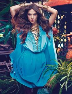 Джессика Миллер в рекламе Blugirl весна 2012 (фото 7)