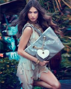 Джессика Миллер в рекламе Blugirl весна 2012 (фото 9)