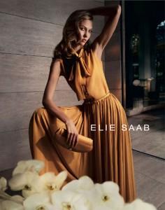 Карли Клосс в рекламной компании Elie Saab весна 2012 фото 2