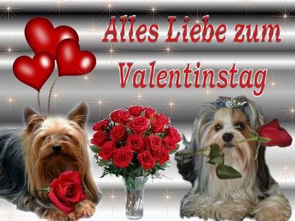 Поздравления С Днем Святого Валентина на немецком
